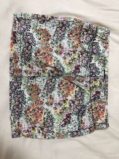 ZARA TRF floral miniskirt