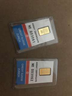 Old credit Swiss pamp gold