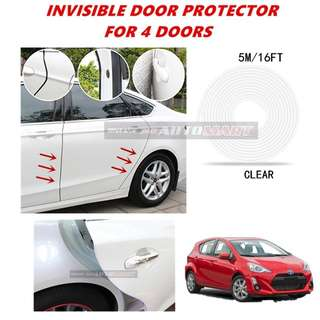 Moulding Trim Rubber Strip Auto Door Scratch Protector Car Styling Invisible Decorative Tape