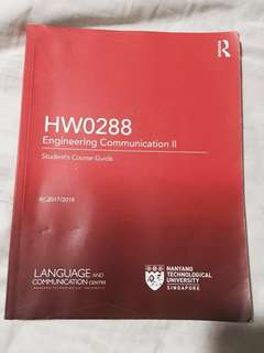 HW0288 Engineering Communication II Book