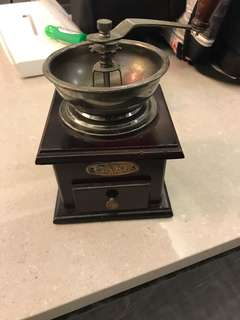 Antique coffee bean grinder