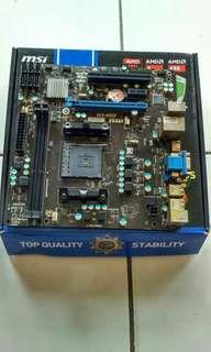 Motherboard MSI A55M-E35 [FM2+] dan Processor AMD A6-5400K