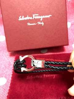 Salvatore Ferragamo Double Woven Bracelet 真皮手帶