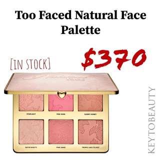 Too Faced Natural Face Palette 六色高光/胭脂/修客盤