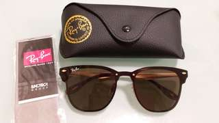 Ray Ban ORIGINAL 3576 CLUBMASTER BLAZE BROWN LENS