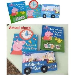 Peppa pig board book 3 in 1 original authentic