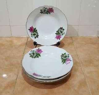 Vintage kangkung dinner plate 4