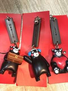 熊本熊電話繩鎖匙扣