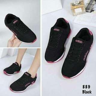 adidas Sepatu Sport  (matt jaring +suede 1cm alas karet)