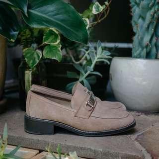 RMK Vintage Oxford Brown Suede Shoes