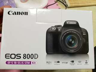 🚚 Canon 800D + lens kit 18-55mm + memory 32Gb ,rarely used, good condition
