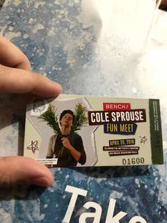 Cole sprouse ticket
