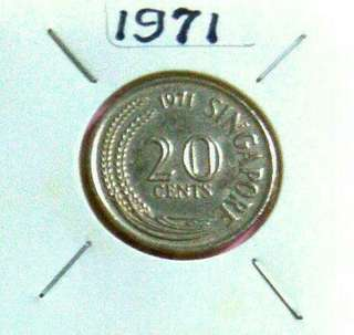 197 1: Rare 20cents Spore 1st issueCoin