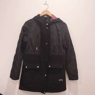 STUSSY three quarter winter jacket size 10