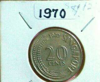 1970: Rare 20cents Spore mint issue coin