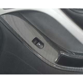 4D卡夢款/elantra升降窗碳纖紋飾片/ELANTRA車門飾片