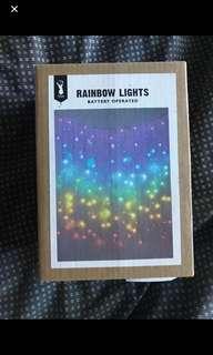 Typo rainbow lights