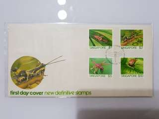 First Day Cover new definitive stamps Insects