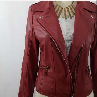 Red Leather Jacket Brand New and On hand