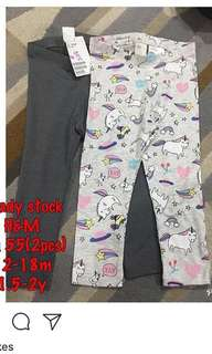 H&M baby leggings (set)
