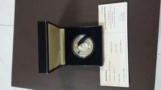 Singapore mint asian aerospace 1998 silver proof