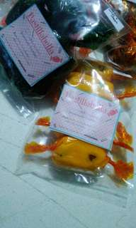 Flavored and assorted pastillas