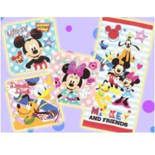 Mickey Mouse and Friends 4 pc towel gift box