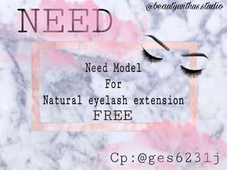Need model eyelash extension