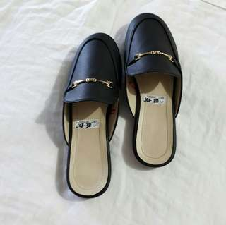 Mules Synthetic Leather (Black Only)