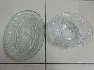 Glass Plate & Bowl