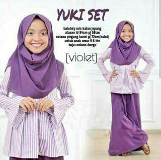 Yuki set baju muslim anak5-8thn/baju muslim anak murah