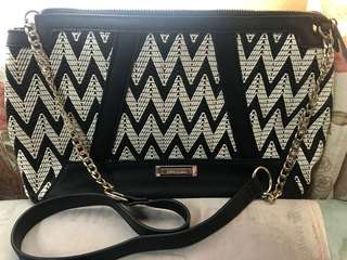 black weave crossbody bag