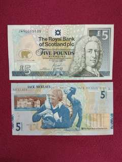 Scotland 5 pounds Jack Nicklaus commemorative
