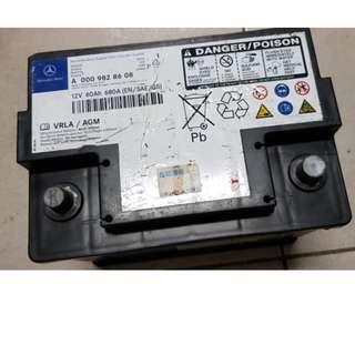 (二手中古電池) 賓士原廠AGM汽車電池D52 60AH 數值漂亮品項優 同56214 56224 55457歐系車專用
