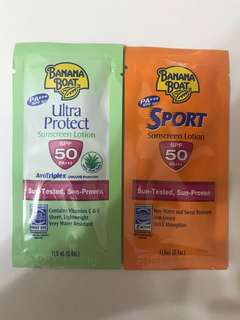 Banana Boat Sunscreen - x2 Travel Pack (Ultra Protect with Aloe Vera and Sport Sunscreen)