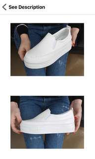 Elevated slip on shoes