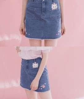 🚚 Pazzo 瑪莉貓刺繡短裙L