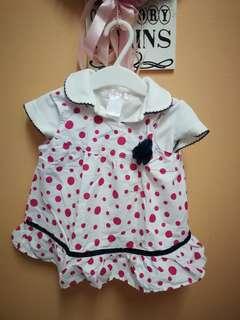 Skirt Polkadot with plain shirt