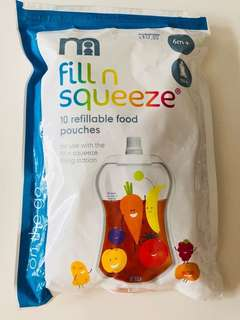 Fill N squeeze food pouches