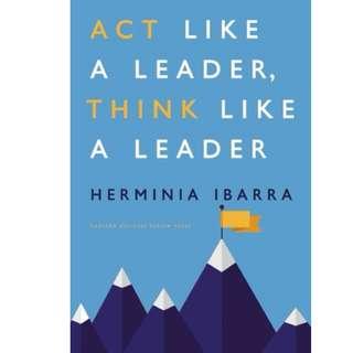 Ebook- Act Like a Leader, Think Like a Leader