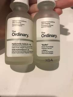 The ordinary  Buffet  and Hyaluronic Acid