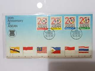 First Day Cover 20th anniversary of ASEAN 1987