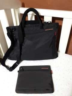 Hedgren Slim Briefcase with Pouch