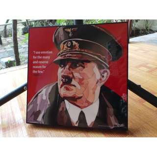 Acrylic Paint Pop Art - Hitler