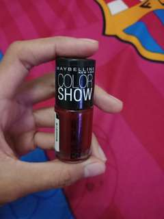"""Maybelline color show nail polish """"downtown red"""""""