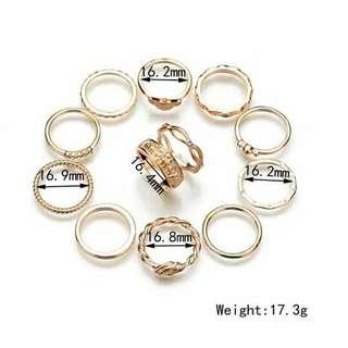 Korean ring set