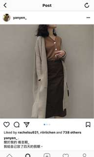 全新studio doe購買深咖裙 (nude, dogoose, ingrid, cover.com, cover, 小安)