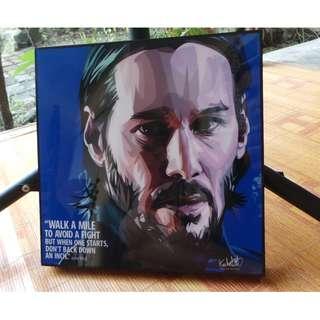 Acrylic Paint Pop Art - John Wick
