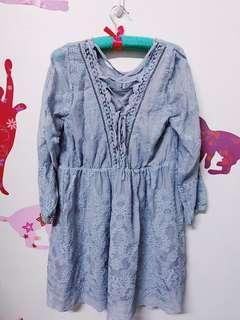 全新Lovfee灰色蕾絲洋裝#女裝半價