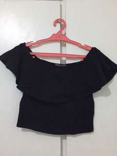BERSHKA Off Shoulder Top